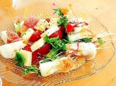 竹輪とクリームチーズのおつまみ