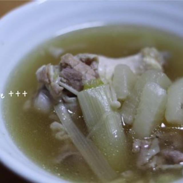 大根とダブルお肉の美味しいスープ