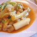 コチュジャンで温まる~豚バラと白菜のトッポギ by おいしっぽさん