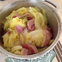 【有元葉子さん】キャベツとベーコンの蒸し煮@無水鍋