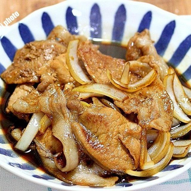 豚肉のウスターソース炒め&やっぱり旨い「ぶたのほし」