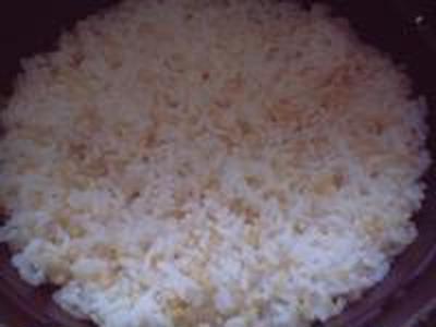 湯立てで白米(676)。。。茨城県産 奥久慈の棚田のコシヒカリ特別栽培米うまかっぺJA茨城みどり玄米(あいざわ米店)さて何でしょ???コシヒカリ白米(あいざわ米店)