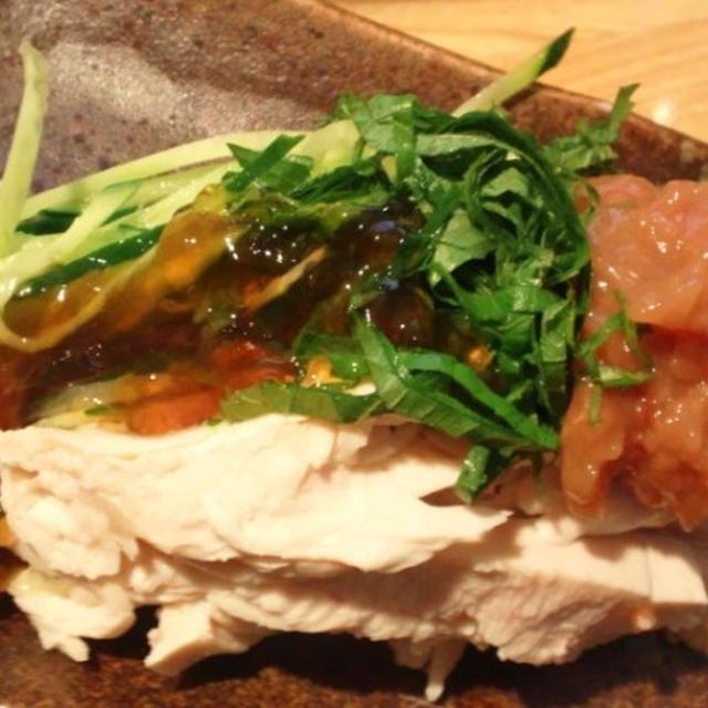 鶏ささみと胡瓜の梅ポン
