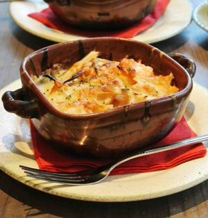 根菜と生鮭のグラタン