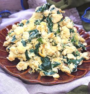 ほうれん草と卵炒め