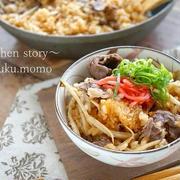 無料で貰えるアレを1個入れるとコクがプラス!味付けは焼き肉のタレだけ!牛肉とごぼうの炊き込みご飯。