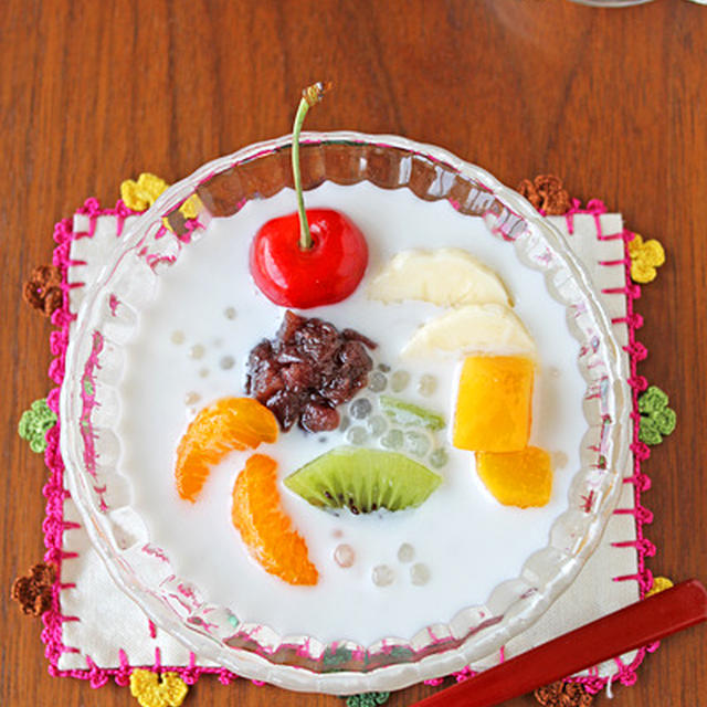 とろとろバナナのタピオカココナッツミルク☆アジアン夏お菓子