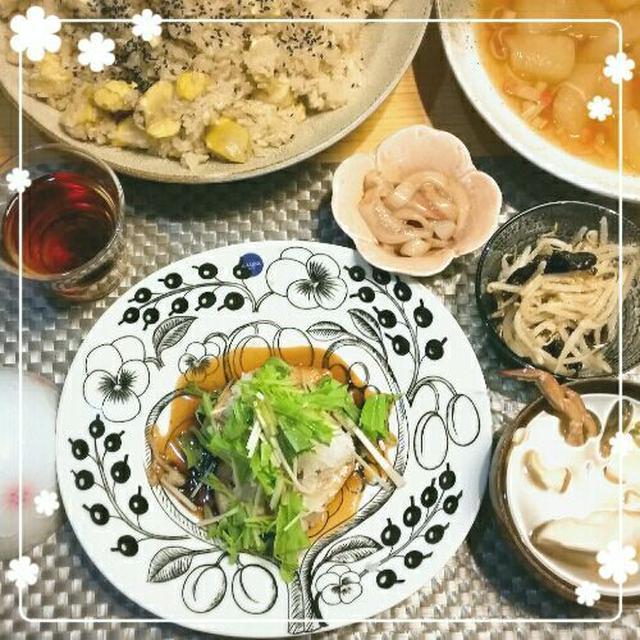 レシピ✿カジキのソテーで秋色ご飯