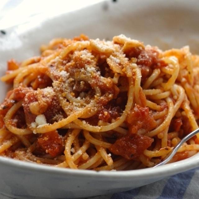 トマトとにんにくのスパゲティ☆