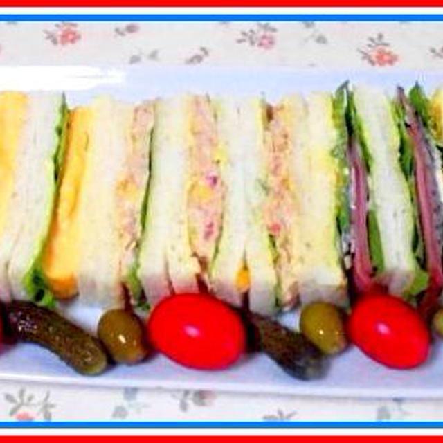 久し振りに、サンドイッチでブランチを