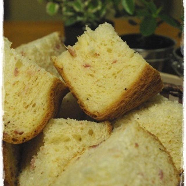 【HB*ベーコン×ガーリックペッパー食パン】