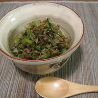 美味しい新米のお供に♪かぶ(大根)の葉の甘辛炒め煮