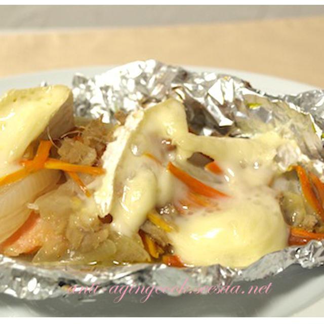 鮭のフォイル焼きチーズ乗せ〜チーズdeおつまみの料理レシピ