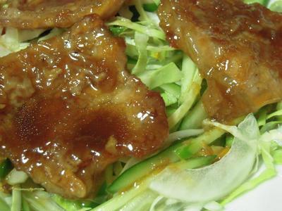 豚肉の生姜焼き・夏バージョン