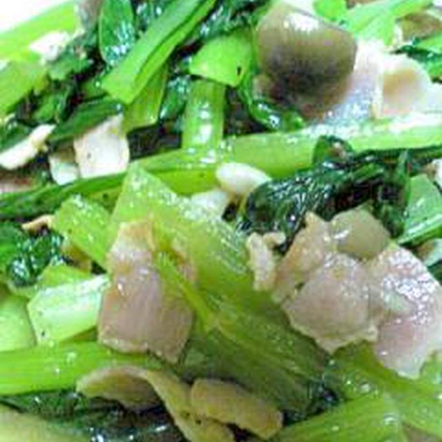 ささっと小松菜の炒め物