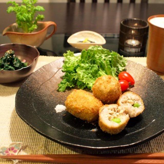 ほくほく里芋と鶏ひき肉のコロッケ