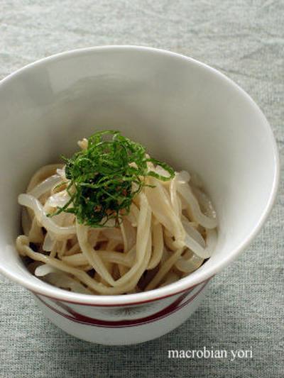 ★えのきと糸こんにゃくの炒め梅酢風味