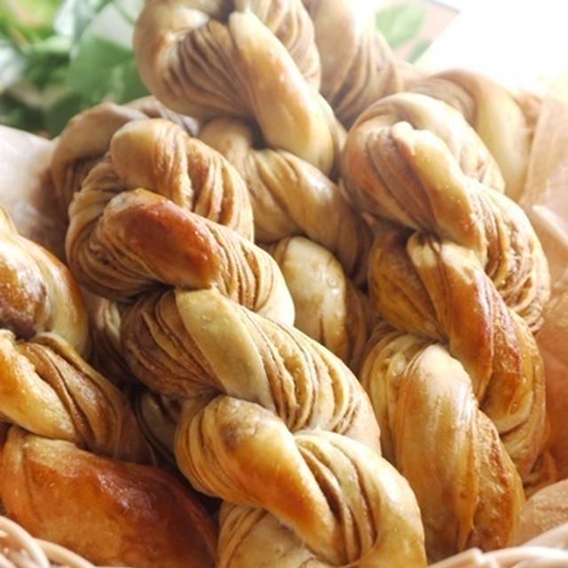 【手作りパン】コーヒーツイスト/ツイスト成形/自家製折り込みシート