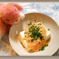 簡単3step『明太子チーズ豆腐』5分で出来る時短おつまみ!キッチンペーパー活用術