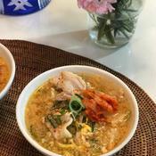 キムチと豚肉と卵のスタミナスープ