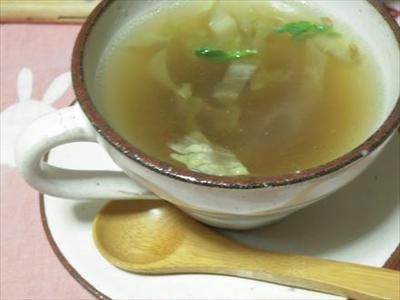 あったか生姜入りスープ