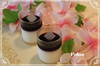 ワイルドブルーベリーのゼリーとパンナコッタ