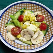 グリーンアスパラとコーン他のイタリアンサラダ