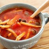 きのこのバジルトマトスープ