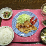 【昨日の晩ごはん】豚生姜焼き、明太子ぽてさら。