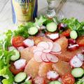 グレープフルーツとタコのサラダ by apomomokoさん