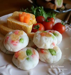 春色はんぺん焼き☆ポリ袋de超簡単☆お弁当にオススメ