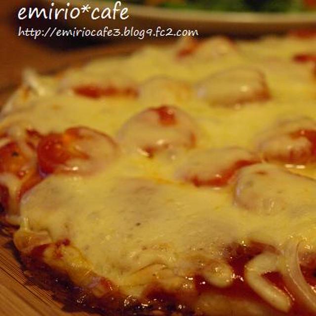 ベーコン&プチトマトのピザときのこのピザ