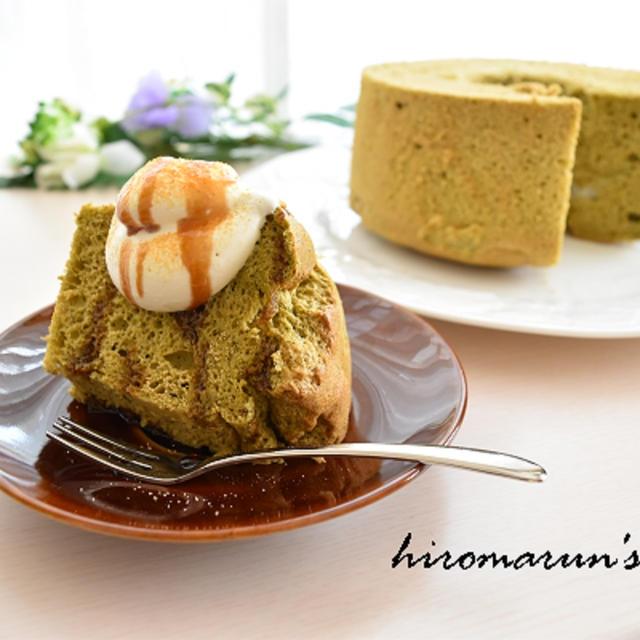 抹茶と黒蜜で和スイーツ♡抹茶豆腐シフォン