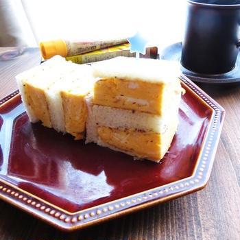 手抜き☆寄せて作る厚焼き玉子風サンドイッチ☆ハウスつぶ入りマスタード使用