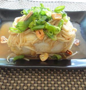 ヘルシー豆腐ステーキえのきソース