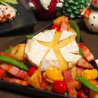 カマンベールチーズでクリスマスパーティー♪ 簡単!カラフル温野菜で!