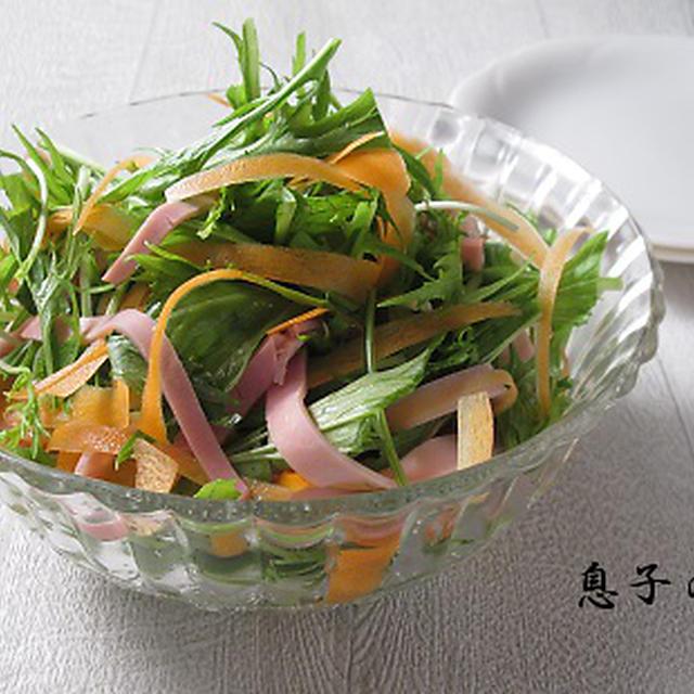 ヒラヒラ三色サラダ