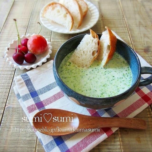 まんぷくスープ♥ブロッコリーの濃厚ポタージュ