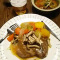 イベリコ豚厚切り肉をオニオン・ソースで