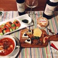 クルミ入りカマンベールチーズが主役♪ワインが進む秋の味覚のテーブル