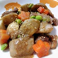 鶏肉とたっぷり根菜のゴマ味噌煮