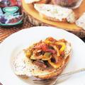 スパニッシュ風スタイルの朝食で♪セルドアラプランチャ&プラムパプリカ