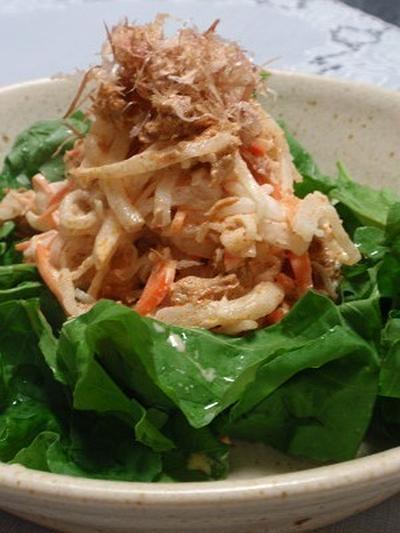 大根と韓国ツナのサラダ