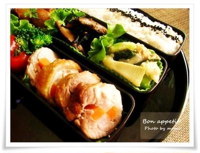 【鶏もも肉の市松煮(レシピ付き)~先日のお弁当】