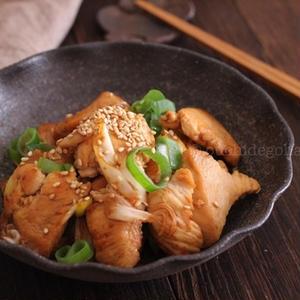 鶏肉とねぎの焦がしにんにく醤油炒め