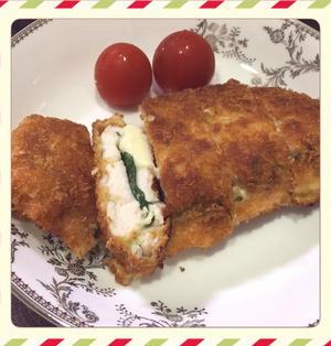 鶏むね肉の大葉チーズはさみ揚げ焼き(レシピ付)