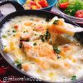フライパン1つで米粉グラタン(動画レシピ)/Rice flour chicken gratin with frying pan.