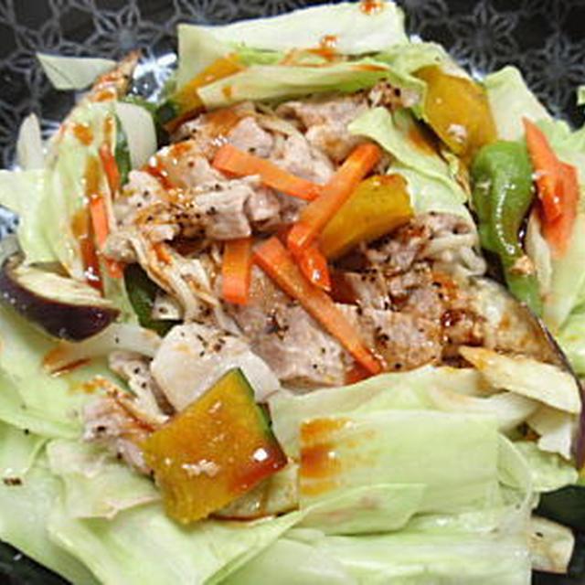 豚肉とたっぷり野菜のヘルシー蒸し料理・コチジャンダレ(レシピ付)