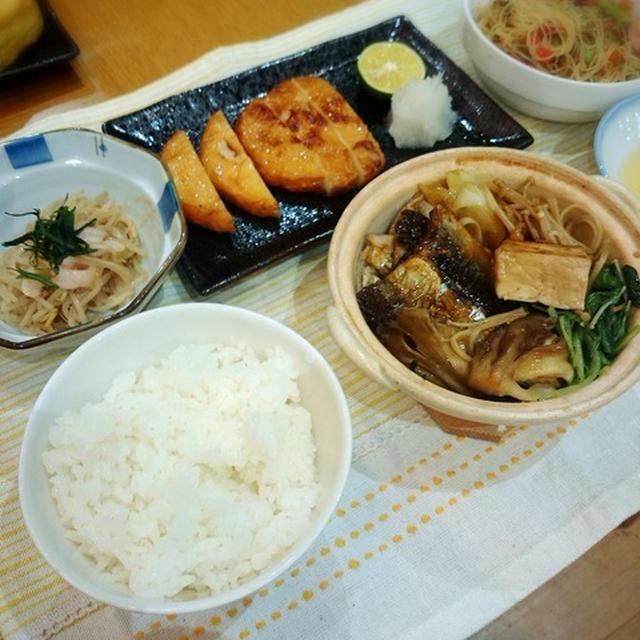 秋刀魚のすき焼き風晩御飯♪