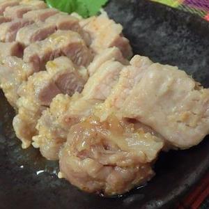 レンジで味噌蒸し豚
